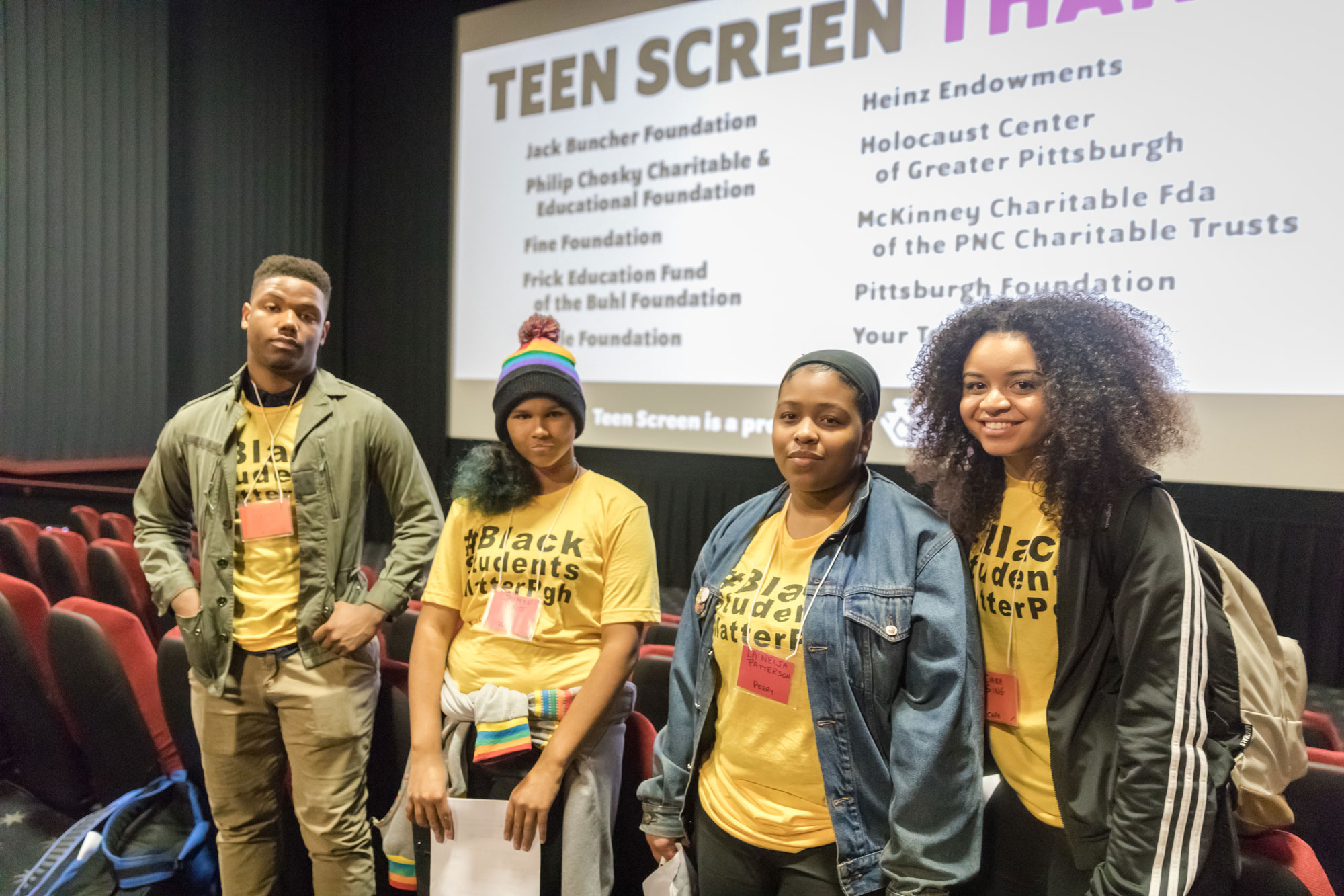 Teen screen students
